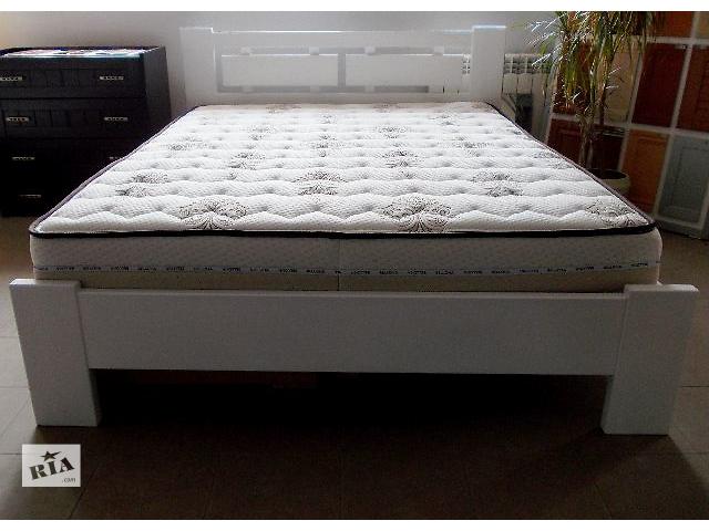 бу Кровать белого цвета массив бука Стиль в Ивано-Франковске