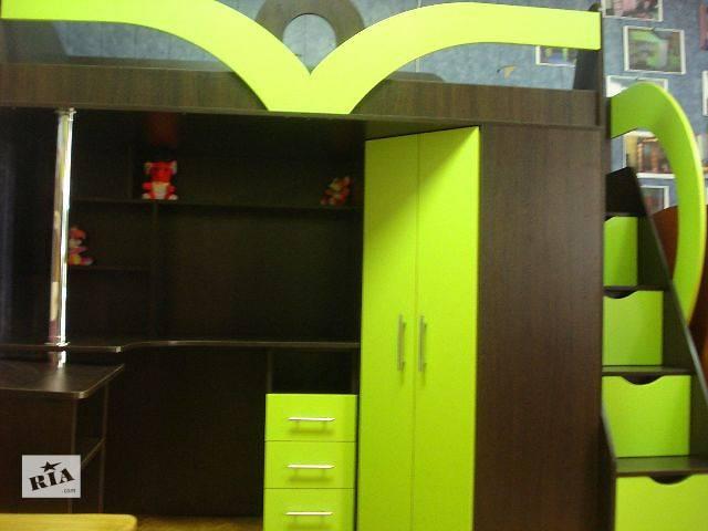 продам Кровать-чердак с рабочей зоной, угловым шкафом и лестницей-комодом (кл6-3) Merabel бу в Харькове