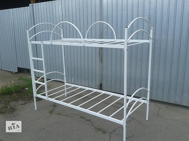 купить бу Кровать двухъярусная металлическая для спальни, баз отдыха, детских учреждений в Никополе