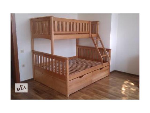 купить бу Кровать двухъярусная трехместная Жасмин с ящиками в Киеве