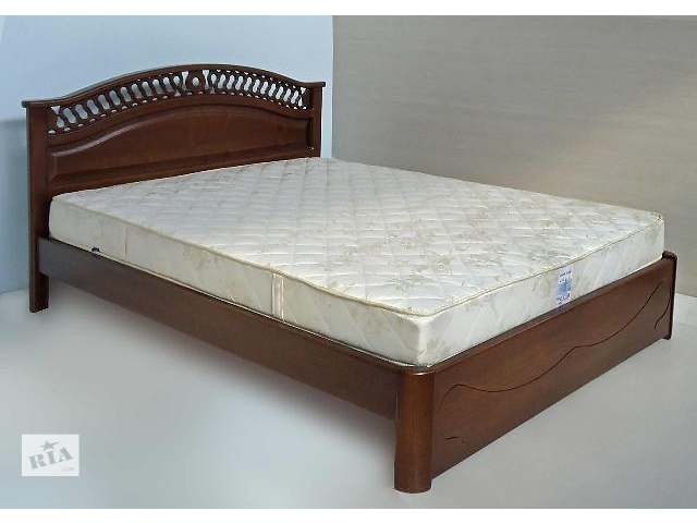 ліжка двоспальні з дерева фото
