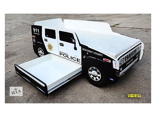 Кровать-машина Hummer Police из МДФ- объявление о продаже  в Киеве