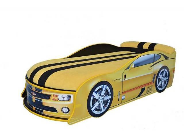 купить бу Кровать машина с матрасом и мягким подголовником в Киеве