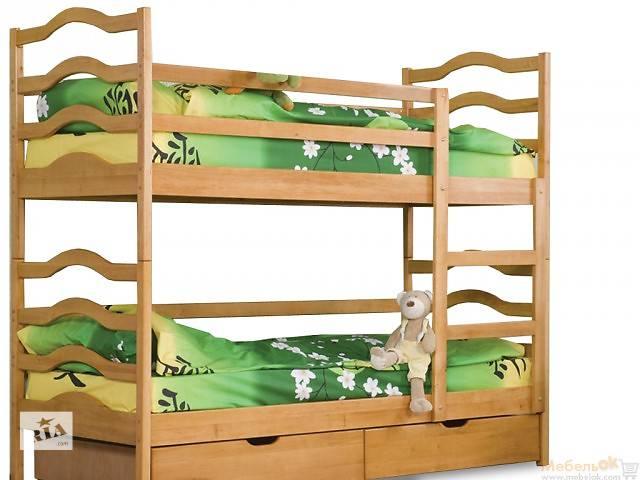 купить бу Кровать на два яруса София  сьемный верхний ярус в Киеве