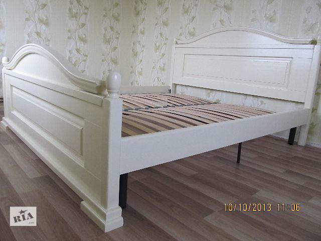 Кровать Розалия new из массива дерева в белом цвете- объявление о продаже  в Ивано-Франковске