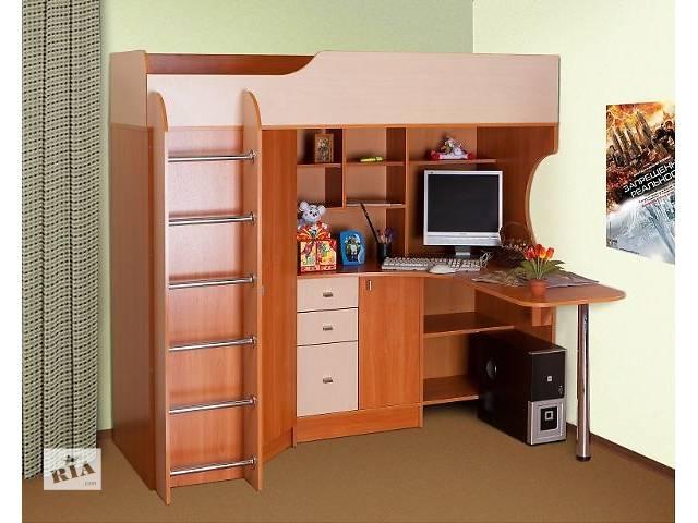 Кровать-чердак с рабочей зоной  бу