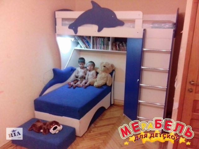 продам Кровать-чердак с угловым шкафом Дельфин (к24) Merabel Рассрочка бу в Харькове