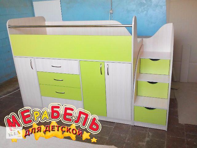 купить бу Кровать детская с тумбами и ящиками (дл5) Merabel в Харькове