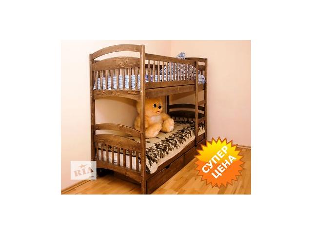 """бу Кровать двухъярусная """"Карина СП"""" (со съемными перегородками), есть на складе, с удобной лестницей (горизонтальные ступен в Калуше"""