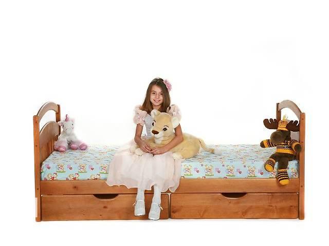 бу Кроватка с дерева с матрасом и  ящиками ! в Киеве