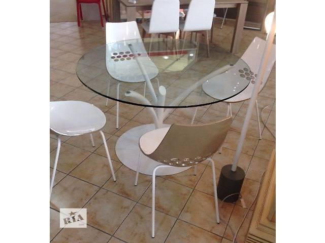 Круглый стеклянный стол Calligaris Acacia CS4071-V. реальные фото- объявление о продаже  в Киеве