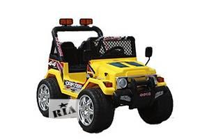 Крутейший! Детский электромобиль 618R + Д/У желтый