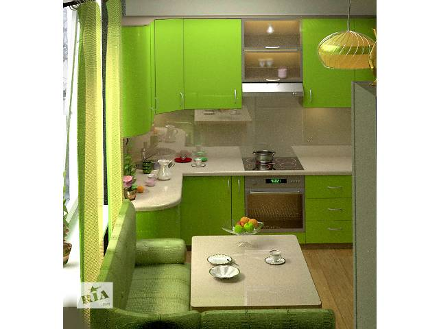 Небольшие кухни зеленые дизайн