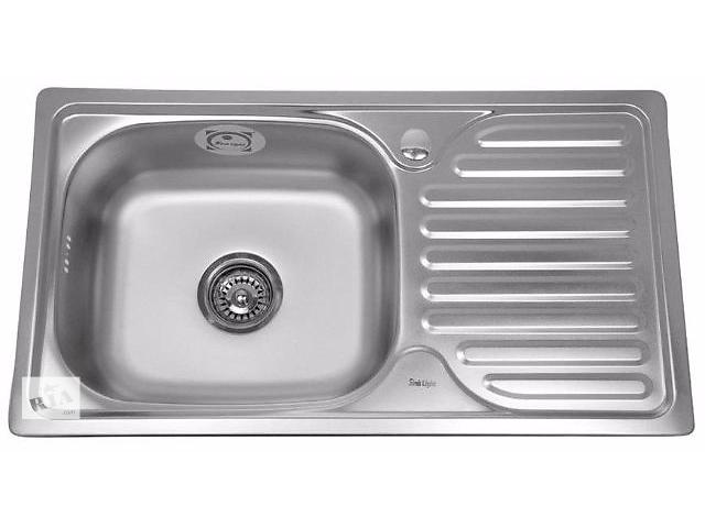 купить бу Кухонная стальная мойка Trion 42 x 76 гладкая в Харькове