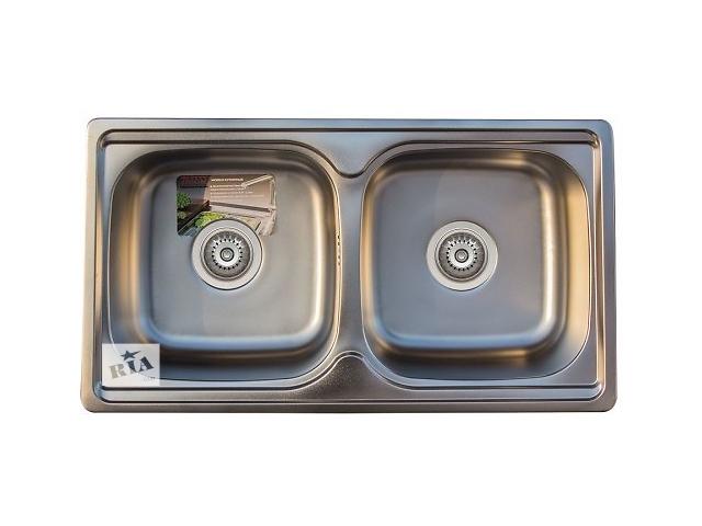 купить бу Кухонная стальная мойка Trion 43 x 78 х 2 гладкая в Харькове