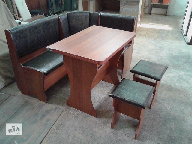 купить бу Кухонный уголок со столом и табуретками в Чернигове