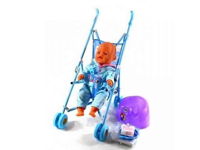 купить бу Кукла пупс аналог Baby Born Беби борн в наборе с коляской 8 аксессуар в Ровно