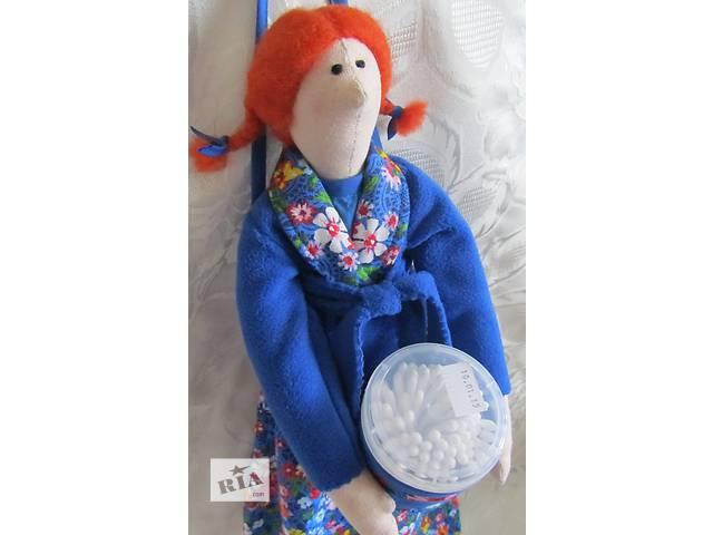 Кукла Тильда хранительница ватных дисков.- объявление о продаже  в Запорожье