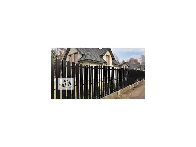Купить штакетный забор металлический, штакетник ограждения из профиля- объявление о продаже  в Житомире
