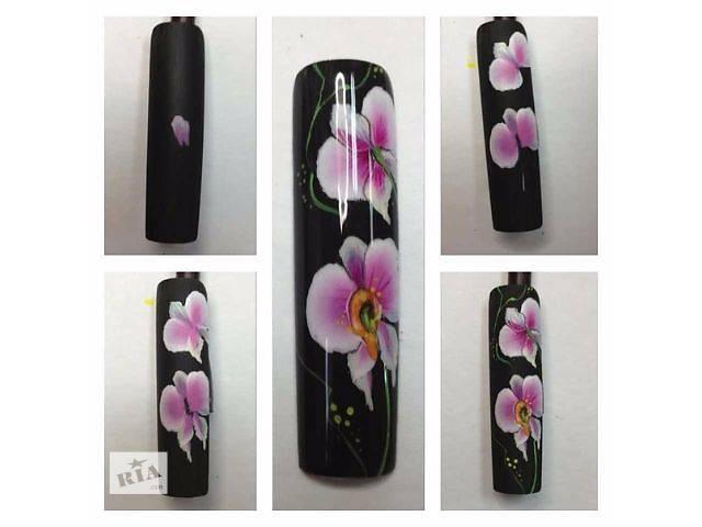 Дизайн ногтей орхидея пошагово с 81