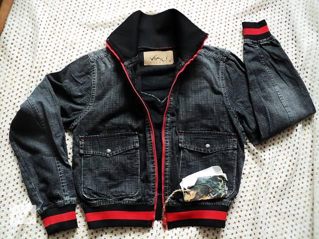 Джинсовая куртка-ветровка бомбер на молнии от vinci!!!турция. s- объявление о продаже  в Чернигове