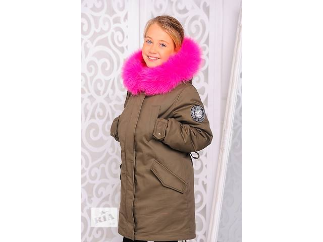 продам Куртка-парка зимняя для девочки 8-12 лет бу в Харькове