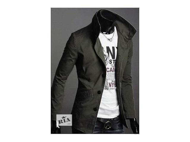 Куртка-пиджак цвета оливы- объявление о продаже  в Черкассах