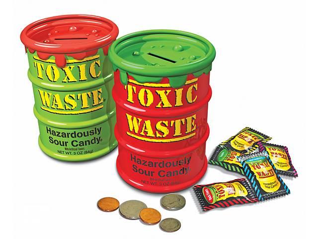продам Кислые конфеты ToxicWasteSourCandy копилка бу в Харькове