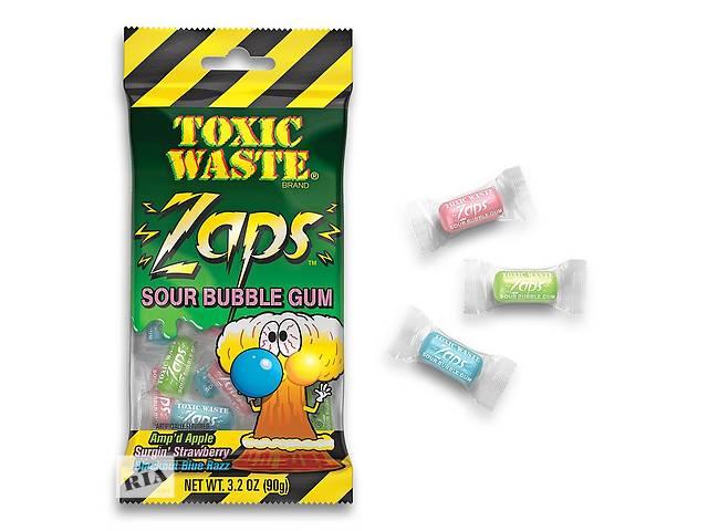 Кислыежвачки Toxic Waste Zaps Bubble Gum- объявление о продаже  в Харькове