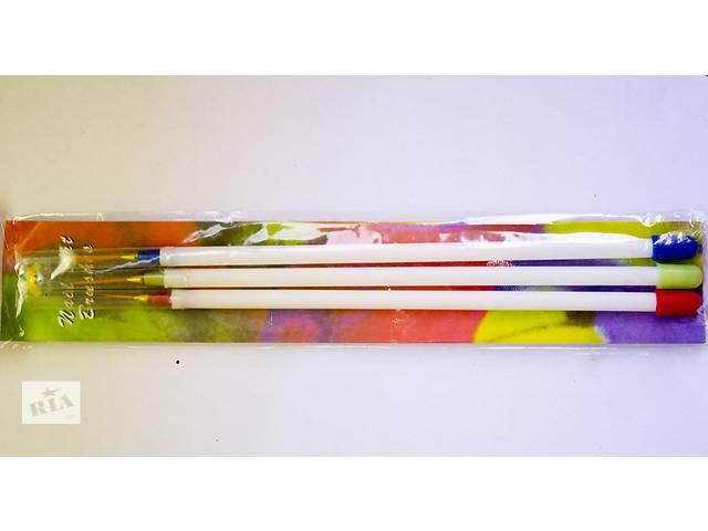 Кисточки линеарные, набор из 3 штук- объявление о продаже  в Виннице