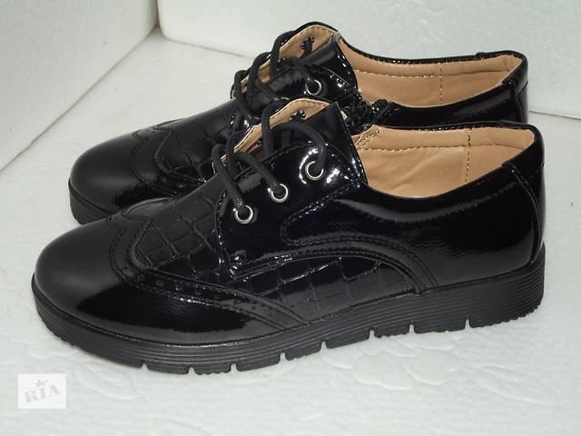 продам лаковые туфли-ботинки, бу в Киеве