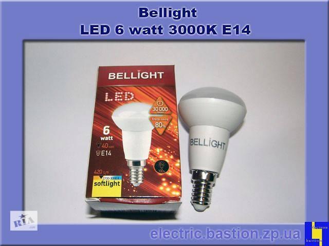 купить бу Лампа LED Bellight R50 220V/6W E14 3000K Энергосберегающая светодиодная в Запорожье