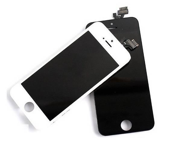 купить бу LCD+touch+frame iPhone 5/5S Black White в Киеве