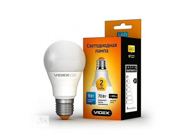 LED лампа VIDEX A60e 9W E27 4100K 220V- объявление о продаже  в Запорожье