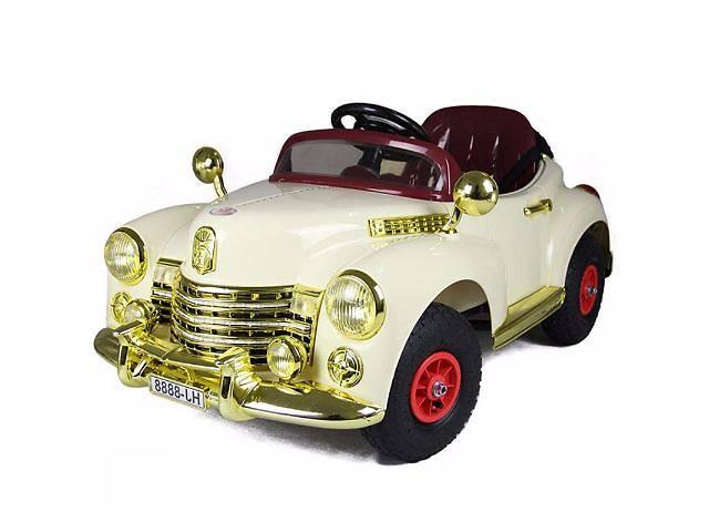 купить бу Легенда! Детский электромобиль Buick 8888 RETRO - БЕЖЕВЫЙ (резиновые колеса) в Одессе