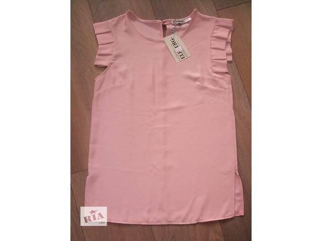 продам Легкая блузка креп шифон нежно розового цвета бу в Киеве