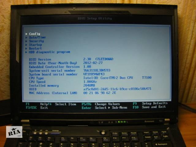 Lenovo ThinkPad T61 14.1 1440x900 WXGA+ LCD NVIDIA Intel 2 Ядра Новое З/У из США #4- объявление о продаже  в Киеве