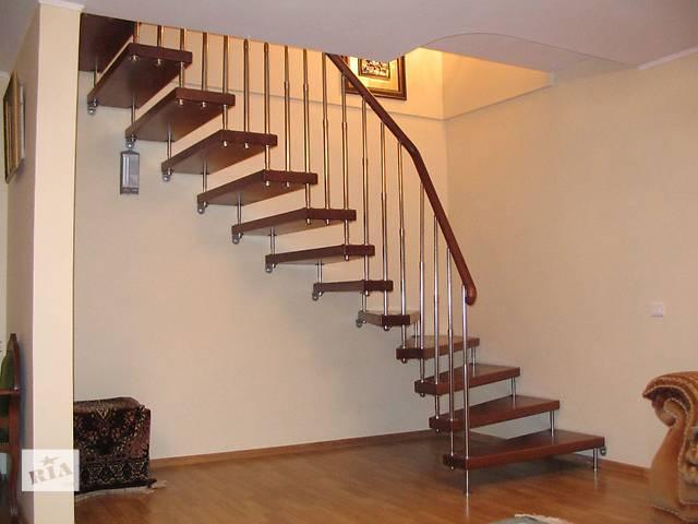 купить бу Лестница из массива на больцах в Одессе