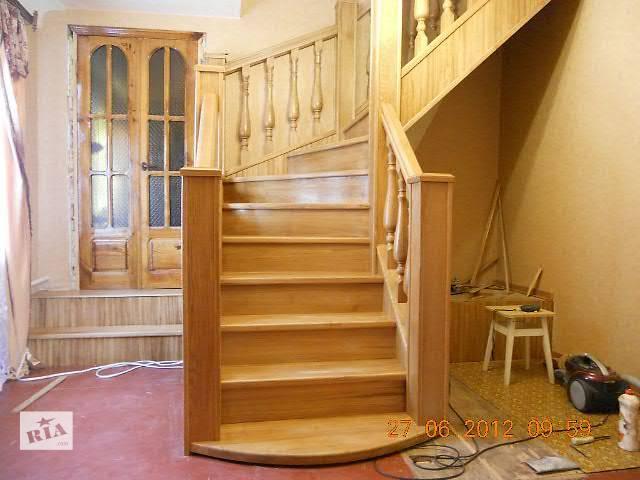 купить бу Лестница дубовая в Славянске