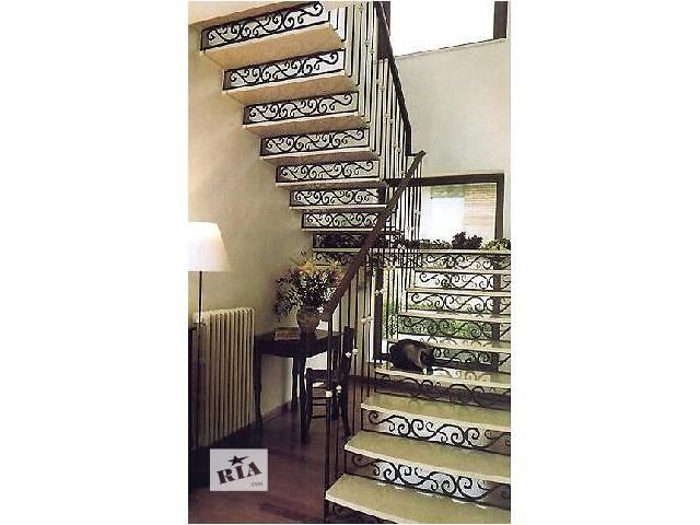 продам Лестницы из черного металла, с коваными элементами бу в Киеве