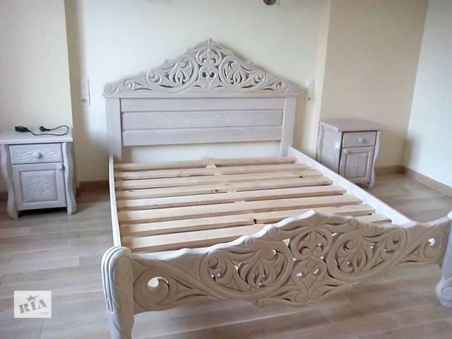 Кровать тумбочки и комод из массива дуба- объявление о продаже  в Богородчанах