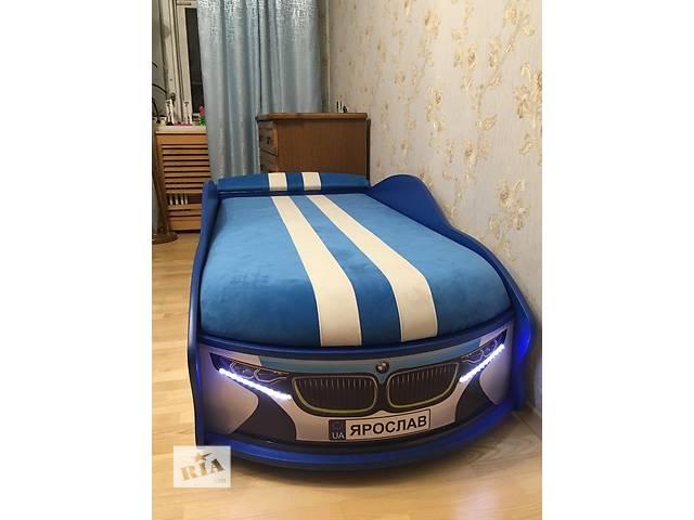купить бу Кровать в форме машины «БМВ space» с матрасом. в Луцке