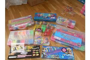 Loom Bands,  Rainbow Loom разноцветные резинки для плетения, браслетов сувениров с помощью станка, крючка оптом, розница