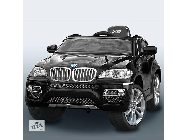 бу Лучший ! Детский электромобиль BMW X6: покраска, кожаное сидение, BLACK в Киеве