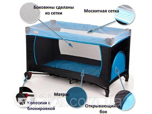 Манеж-кровать Basic - Baby Maxi (синий, зеленый, розовый, оранжевый). Доставка по Украине!- объявление о продаже  в Тернополе