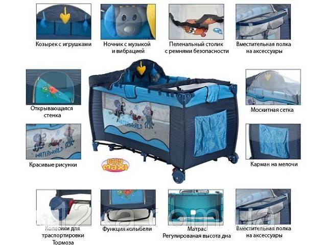 купить бу Манеж-кровать, детский манеж PREMIUM - BABY MAXI новые в Тернополе
