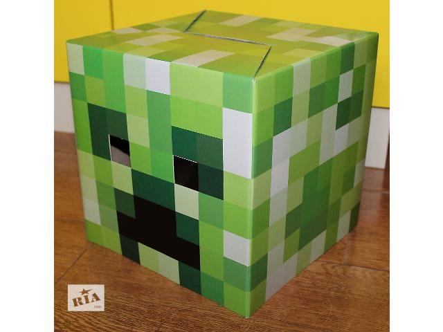 продам Маска-голова крипера Майнкрафт (creeper Minecraft) герои предметы бу в Киеве