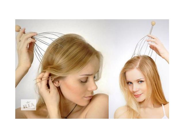 купить бу Массажер антистрессовый для головы «Мурашка», снятие головных болей и усталости в Виннице