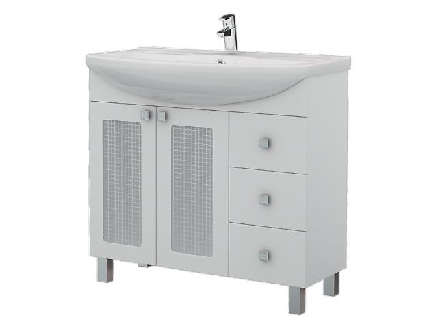 купить бу Мебель для ванны из серии Жасмин(тумба с умывальником,пенал,зеркало) в Запорожье