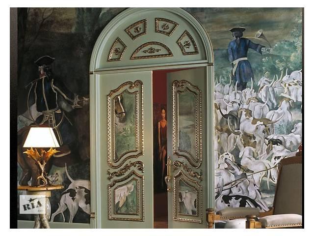 бу Резные двери из дерева. Розетки, капители, накладки на двери в Киеве